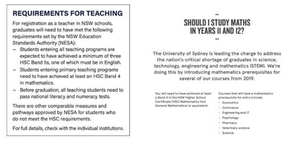 hsc subject selection advice